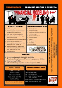 Training Financial Modeling+++ Desember 2015, Januari-Februari 2016 -PT Multi Utama Indojasa