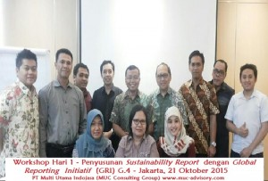 Workshop Hari 1 - Penyusunan Sustainability Report dengan Global Reporting Initiatif (GRI) G.4 - PT Multi Utama Indojasa - Kontak 021 78847078-78841036