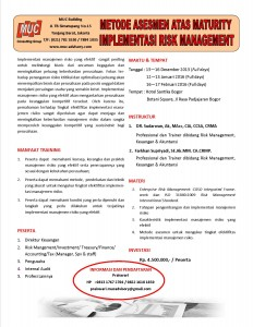 Training Metode Asesmen Atas Maturity Implementasi Risk Management